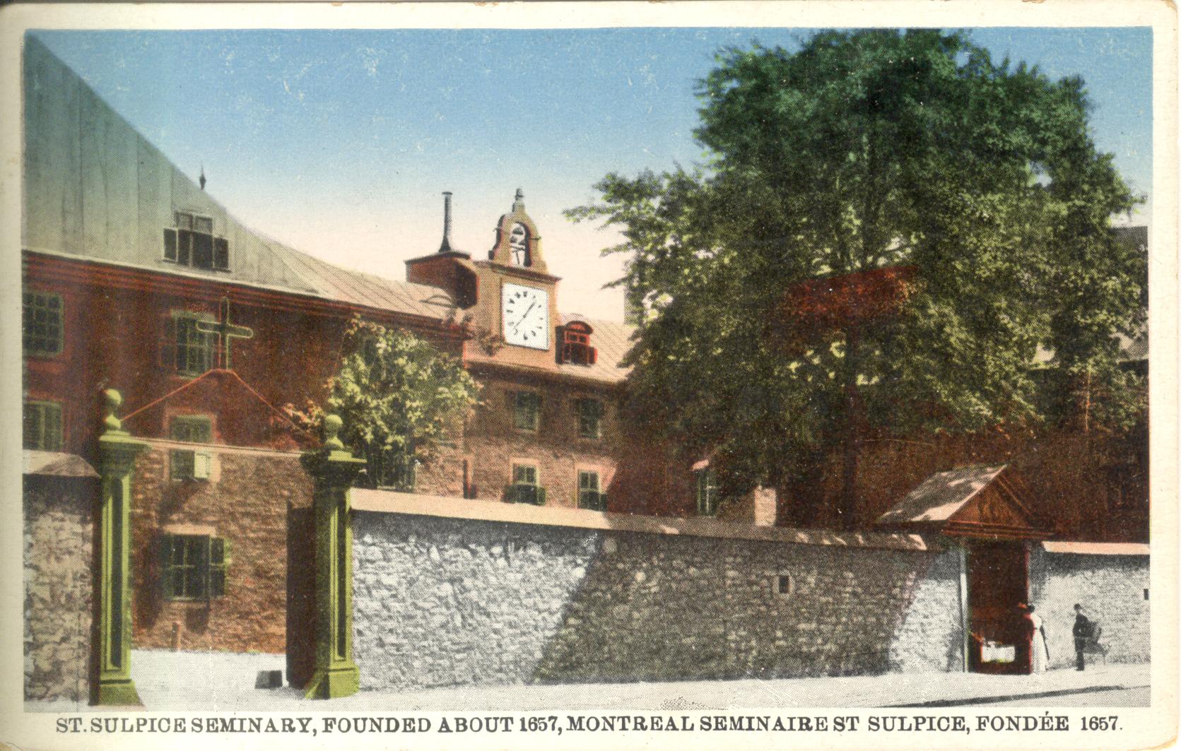 Carte postale du Vieux séminaire des Sulpiciens à Montréal
