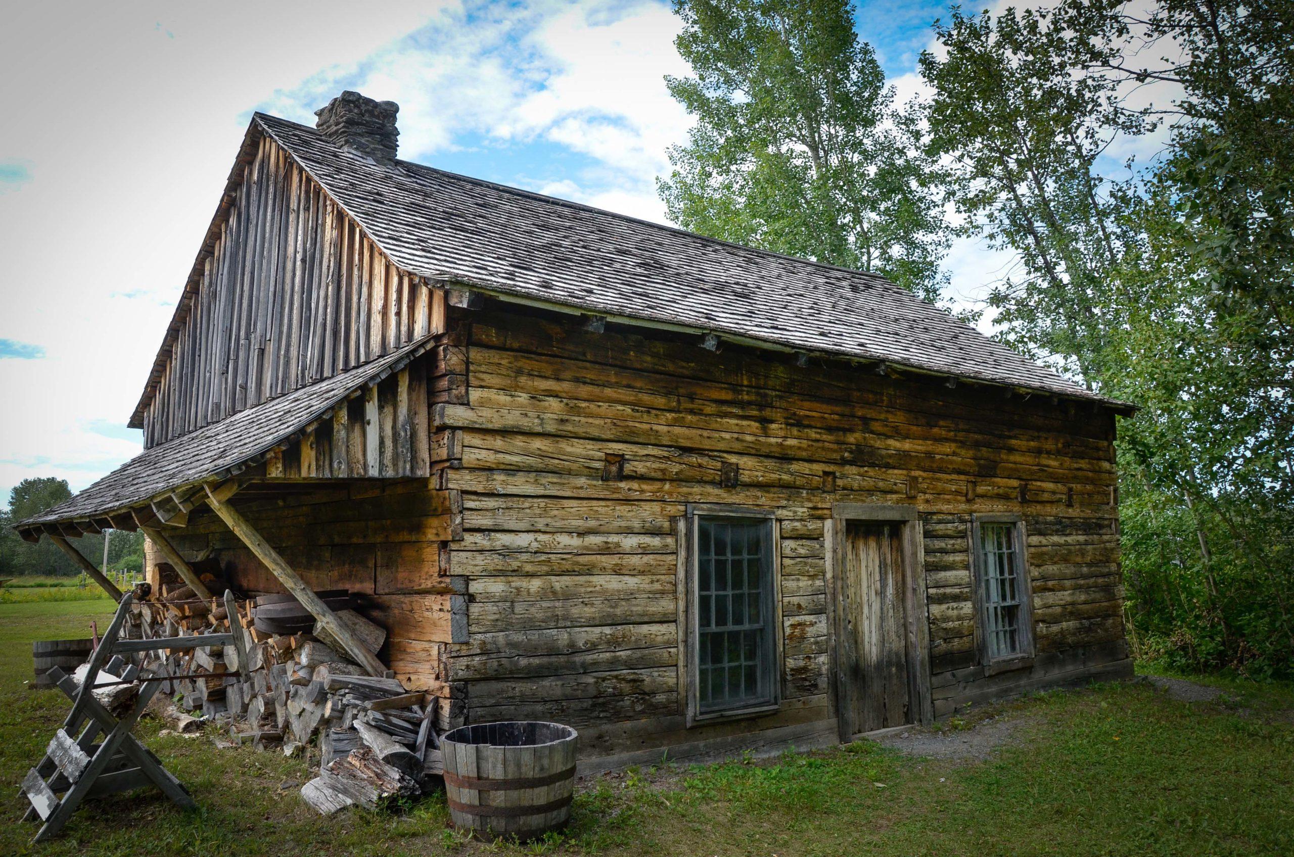 Maison Roy au village acadien de Van Buren dans le Maine qui faisait alors partie de l'Acadie daterait de c1790