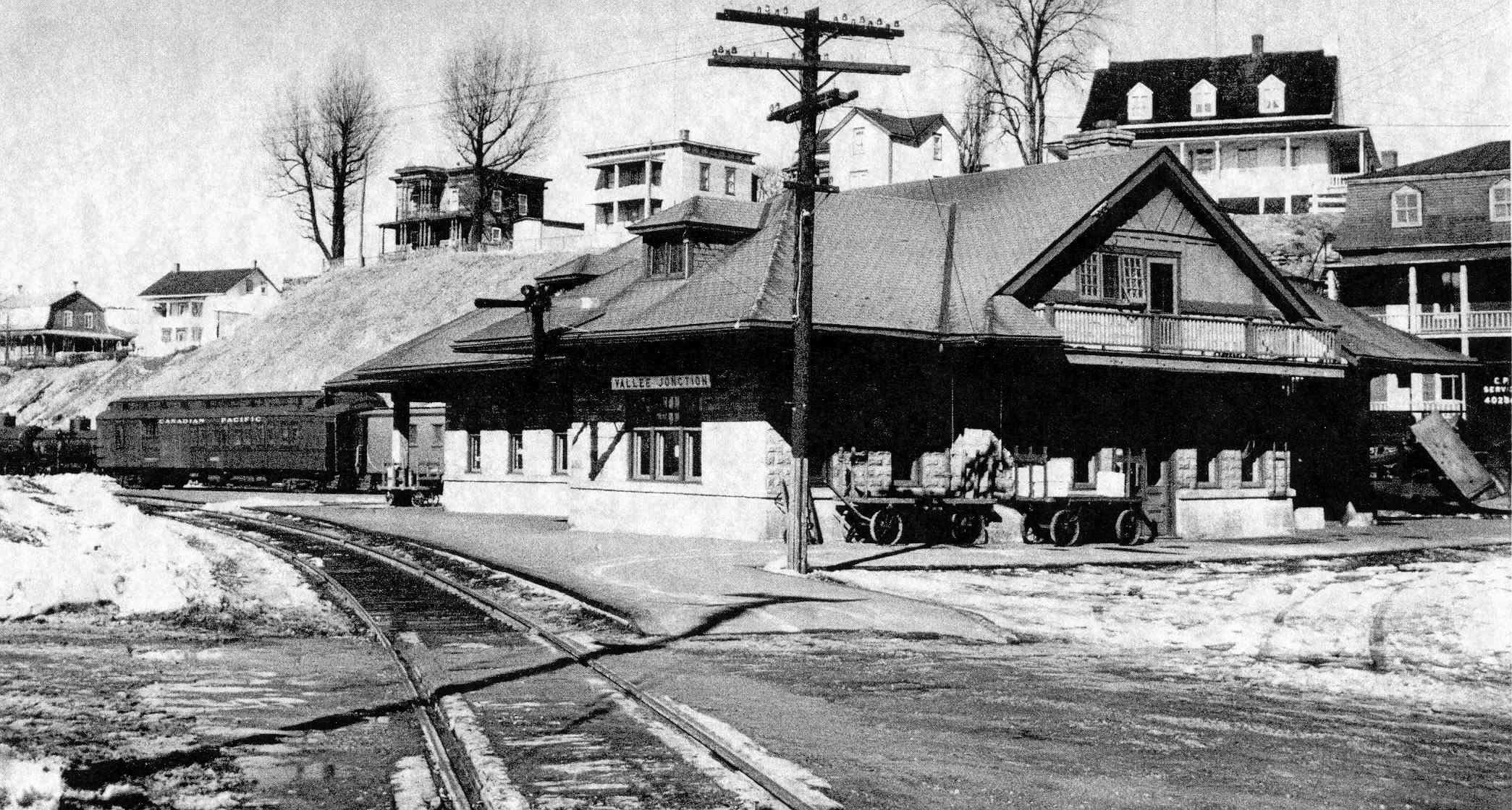 Gare Valley Junction, vers 1918-22 © Archives Musée Ferroviaire de Beauce