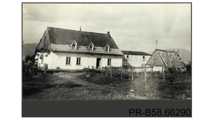Propriété en 1925, fonds Marius-Barbeau