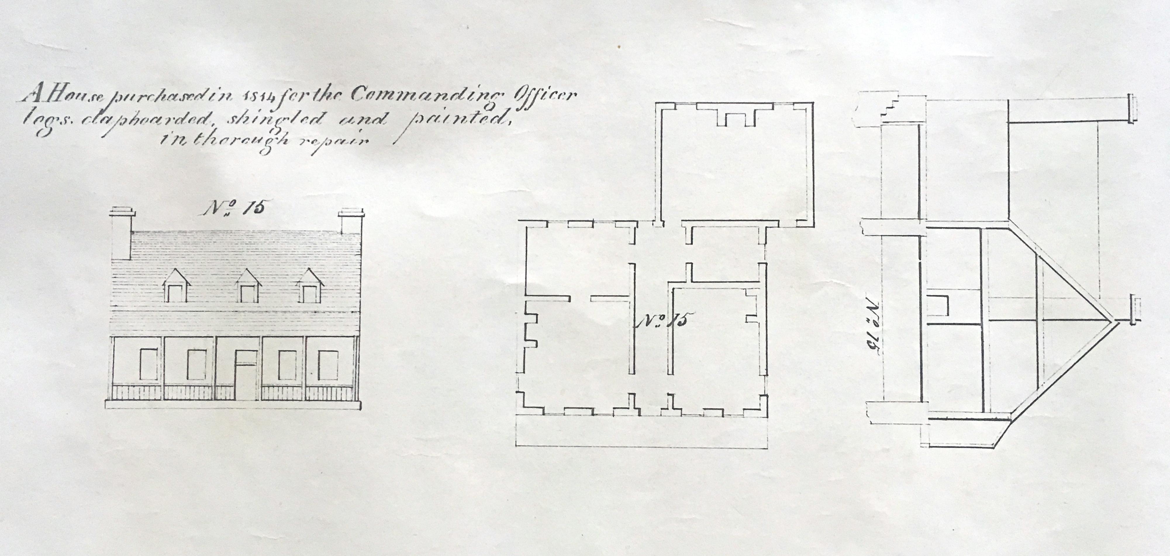 Maison du gouvernement, plans de 1823 © Yves Piette