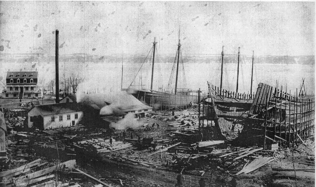 Chantier maritime,1917 © Parc maritime de Saint-Laurent