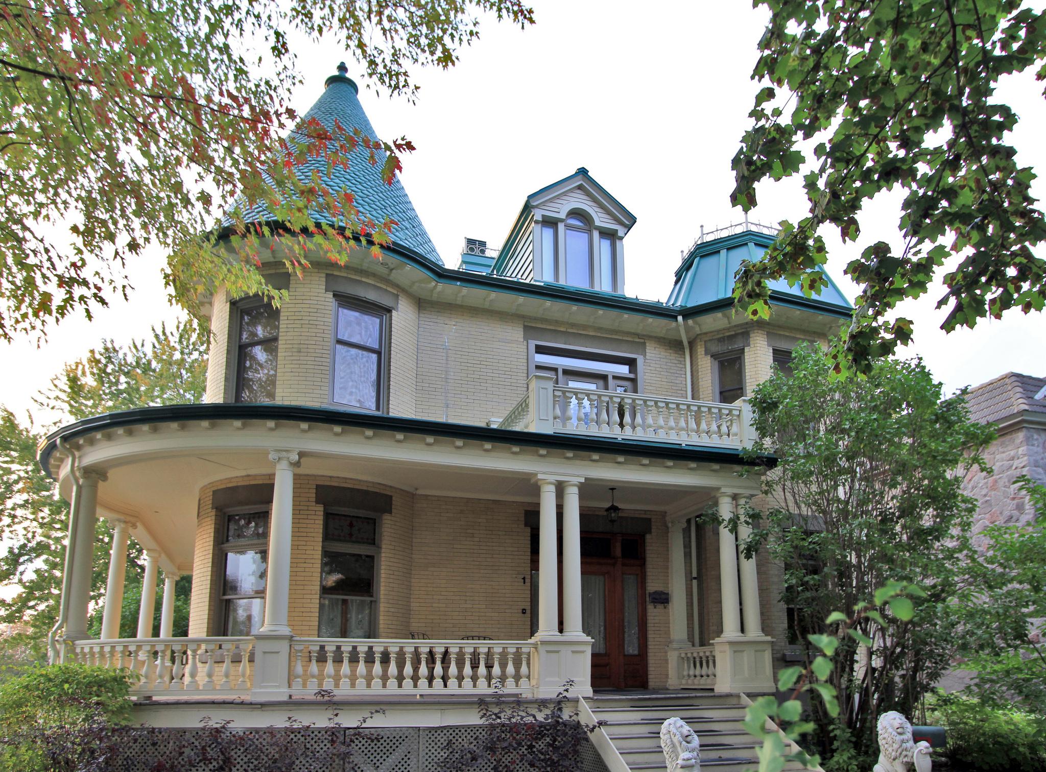 Maison George Lebel. Source : patrimoine.ville.montreal.qc.ca Crédit photo : Denis Tremblay